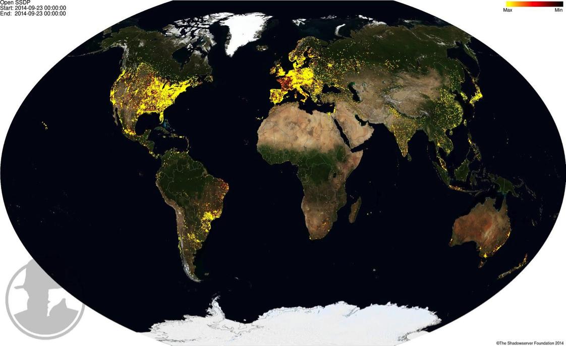 SSDP vulunerable hosts worldwide