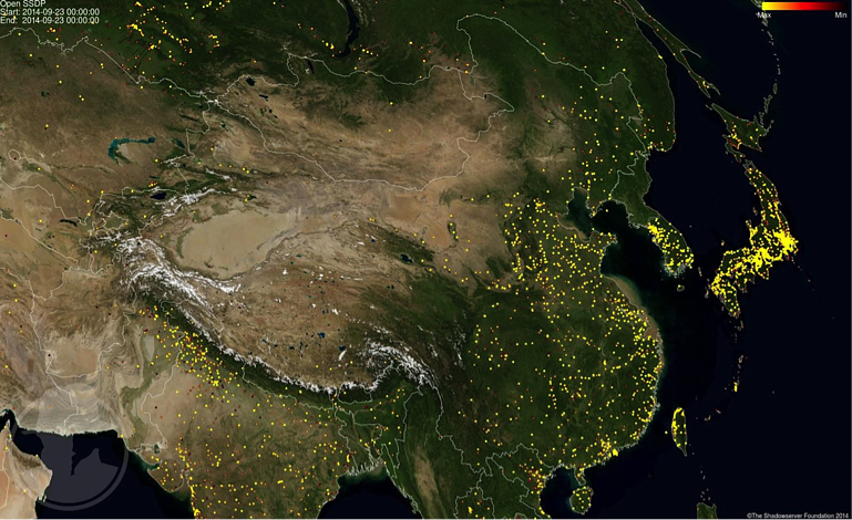 SSDP vulnerable hosts in China