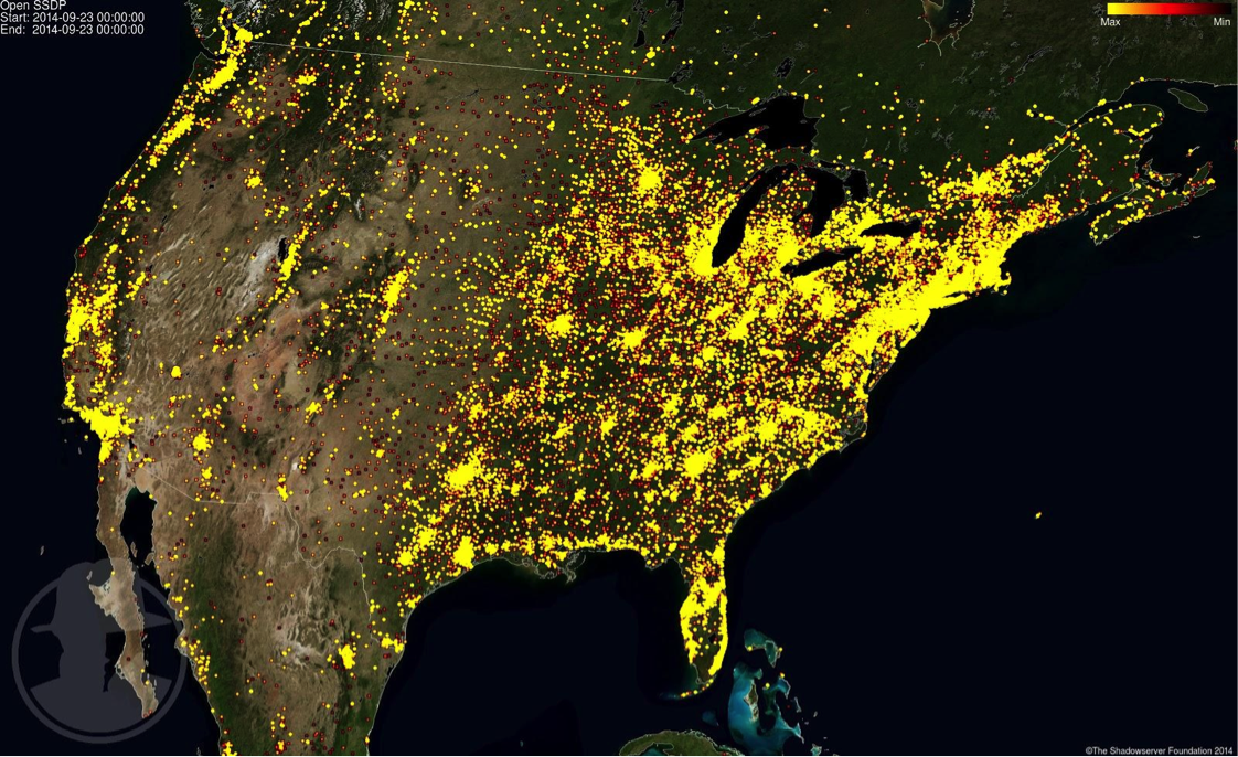 SSDP vulnerable DDoS United States